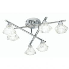 Alamas 6x40w Ceiling Light Fitting in Chrome - Oaks Lighting 3921/6 CH